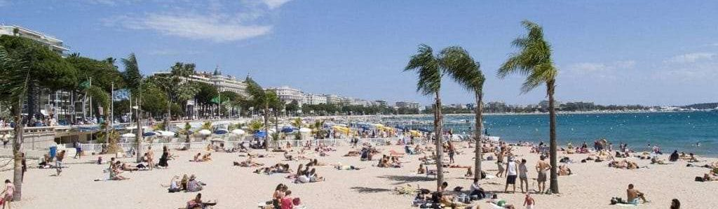 Nice airport transfer to la Croisette beach in Cannes