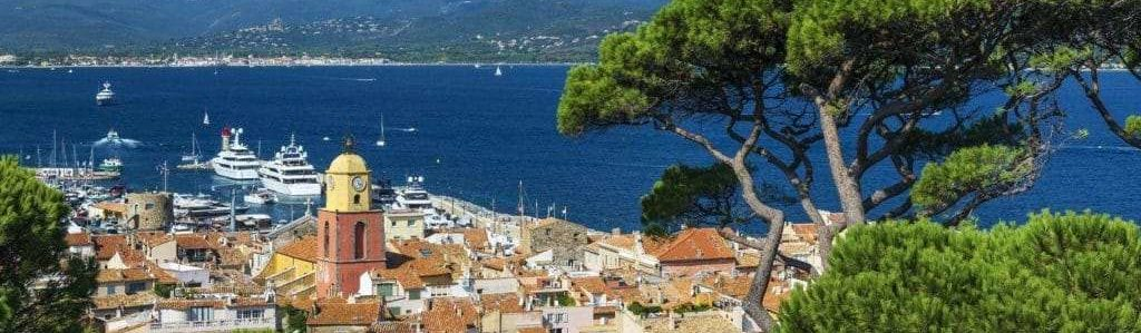 View of Saint Tropez during a transfer to Nice